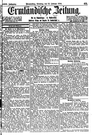 Ermländische Zeitung vom 23.02.1904