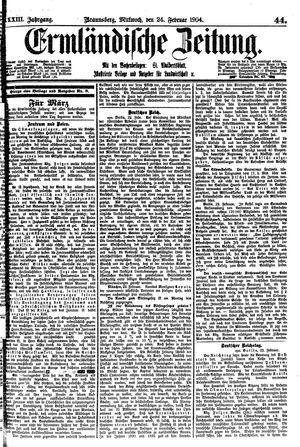 Ermländische Zeitung vom 24.02.1904