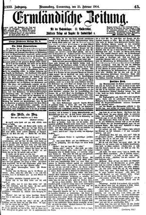 Ermländische Zeitung vom 25.02.1904