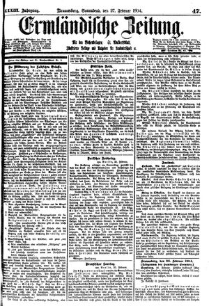 Ermländische Zeitung vom 27.02.1904