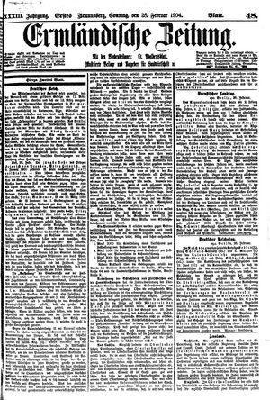 Ermländische Zeitung vom 28.02.1904