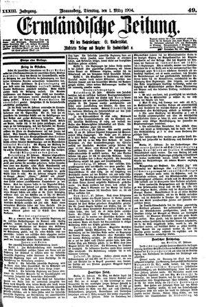 Ermländische Zeitung vom 01.03.1904