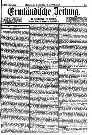 Ermländische Zeitung vom 03.03.1904