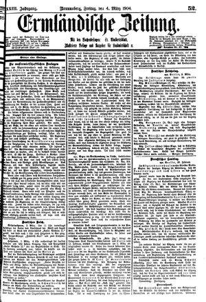 Ermländische Zeitung vom 04.03.1904