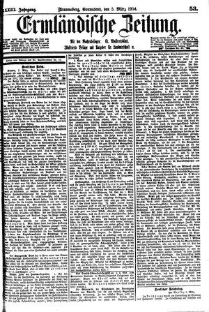 Ermländische Zeitung vom 05.03.1904