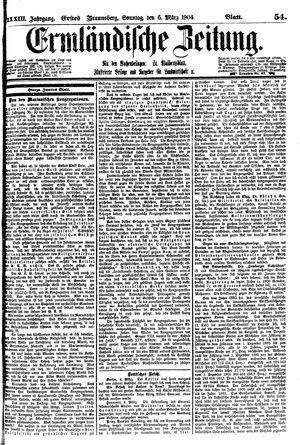 Ermländische Zeitung vom 06.03.1904