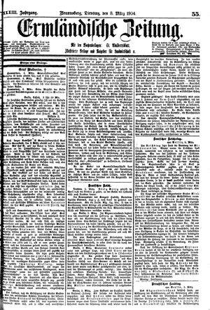 Ermländische Zeitung vom 08.03.1904