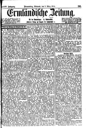 Ermländische Zeitung vom 09.03.1904