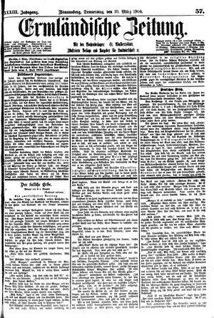 Ermländische Zeitung vom 10.03.1904