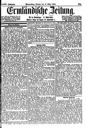 Ermländische Zeitung vom 11.03.1904