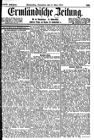 Ermländische Zeitung vom 12.03.1904