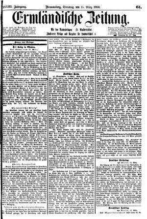 Ermländische Zeitung on Mar 15, 1904
