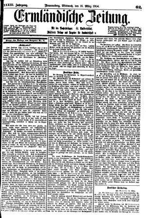 Ermländische Zeitung on Mar 16, 1904