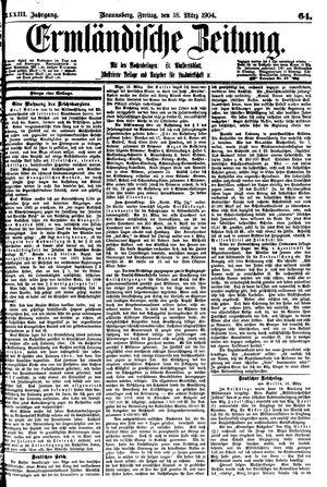 Ermländische Zeitung vom 18.03.1904