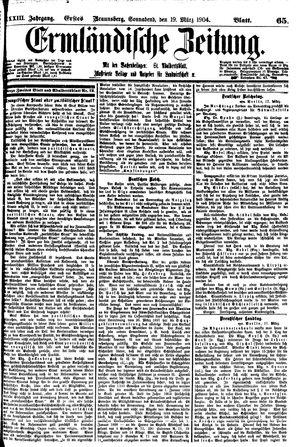 Ermländische Zeitung vom 19.03.1904