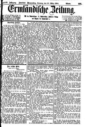 Ermländische Zeitung vom 20.03.1904