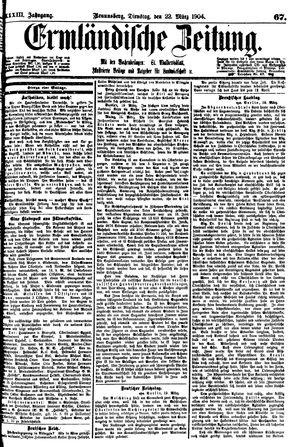 Ermländische Zeitung vom 22.03.1904