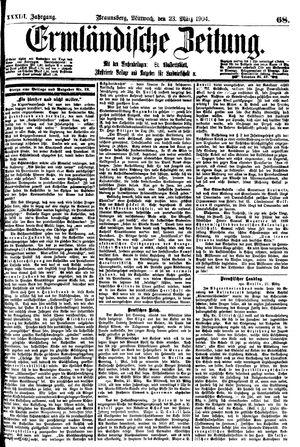 Ermländische Zeitung vom 23.03.1904