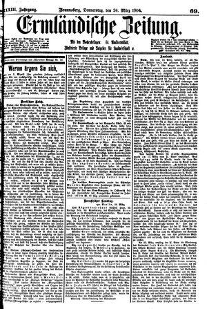 Ermländische Zeitung vom 24.03.1904