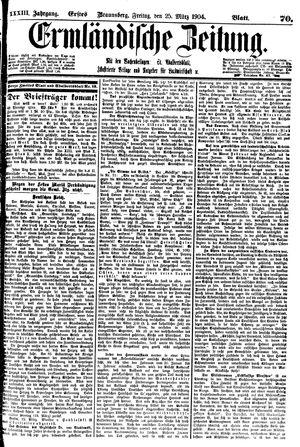 Ermländische Zeitung vom 25.03.1904