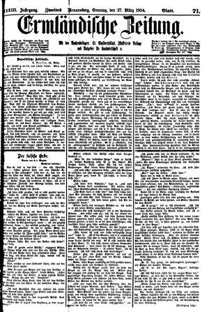 Ermländische Zeitung vom 27.03.1904