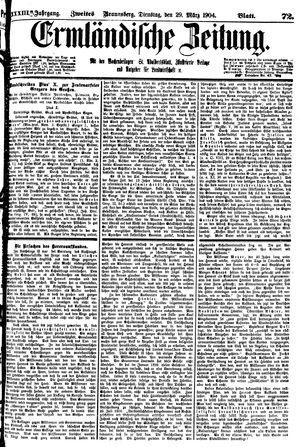 Ermländische Zeitung vom 29.03.1904