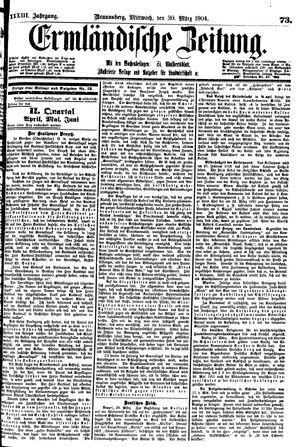 Ermländische Zeitung vom 30.03.1904