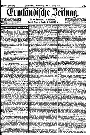 Ermländische Zeitung vom 31.03.1904
