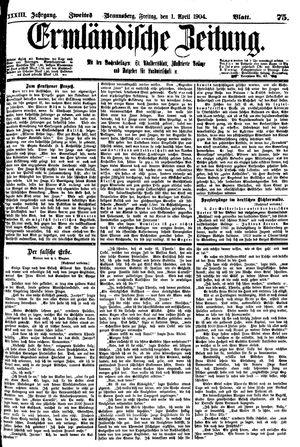Ermländische Zeitung vom 01.04.1904