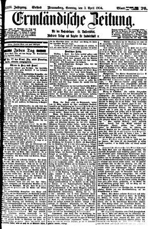 Ermländische Zeitung vom 03.04.1904
