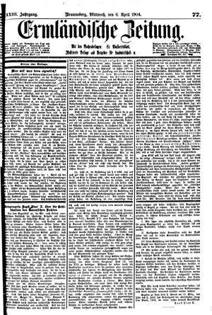 Ermländische Zeitung vom 06.04.1904