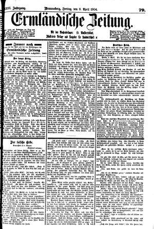 Ermländische Zeitung vom 08.04.1904