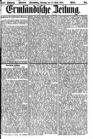 Ermländische Zeitung vom 10.04.1904