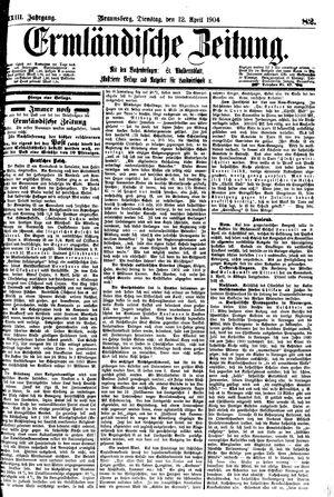 Ermländische Zeitung vom 12.04.1904