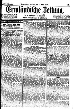 Ermländische Zeitung vom 13.04.1904