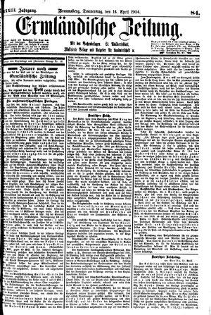 Ermländische Zeitung vom 14.04.1904