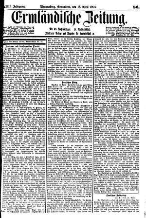 Ermländische Zeitung vom 16.04.1904