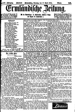 Ermländische Zeitung on Apr 17, 1904