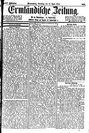 Ermländische Zeitung vom 19.04.1904