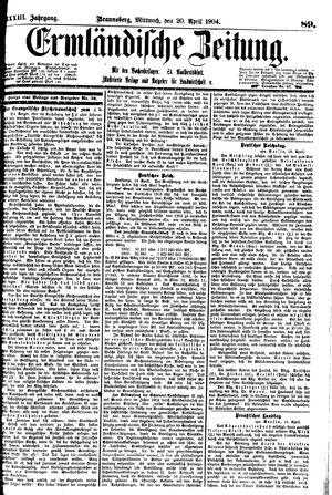 Ermländische Zeitung vom 20.04.1904
