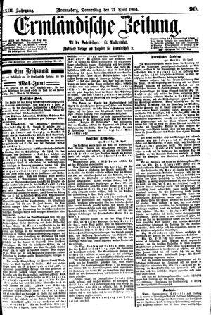 Ermländische Zeitung vom 21.04.1904