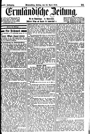 Ermländische Zeitung vom 22.04.1904