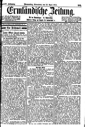 Ermländische Zeitung vom 23.04.1904