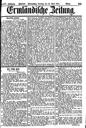 Ermländische Zeitung vom 24.04.1904