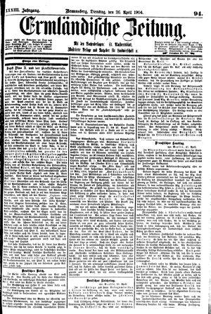 Ermländische Zeitung vom 26.04.1904