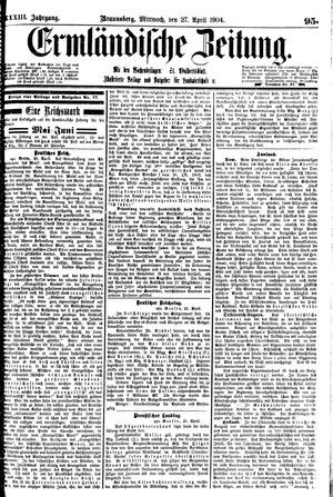 Ermländische Zeitung vom 27.04.1904