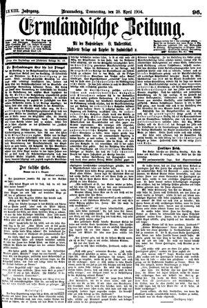 Ermländische Zeitung on Apr 28, 1904