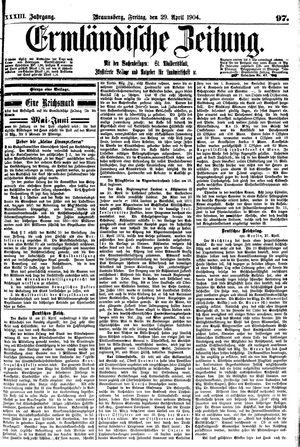 Ermländische Zeitung vom 29.04.1904