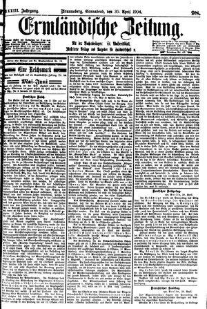 Ermländische Zeitung vom 30.04.1904