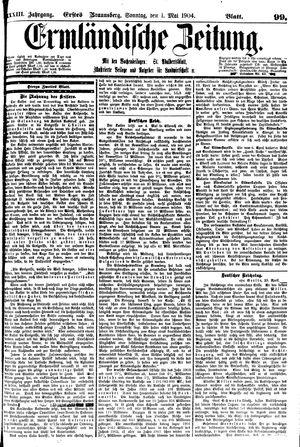 Ermländische Zeitung vom 01.05.1904